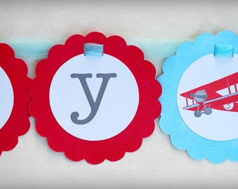 The Vintage Plane Collection - Custom Banner from Mary Had a Little Party