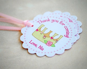 The Princess Party - Fantastic Favor Tags with Bags from Mary Had a Little Party
