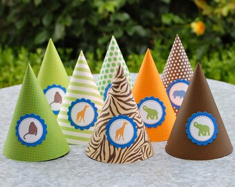 The Vintage Safari Collection - Custom Party Hats from Mary Had a Little Party