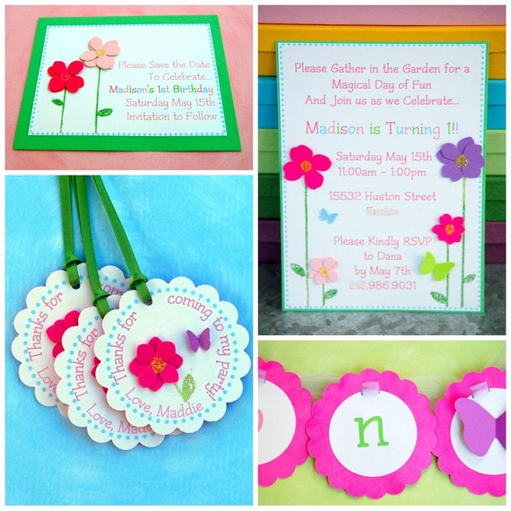 BUTTERFLY GARDEN Party - Custom Listing RESERVED for katiemgordon