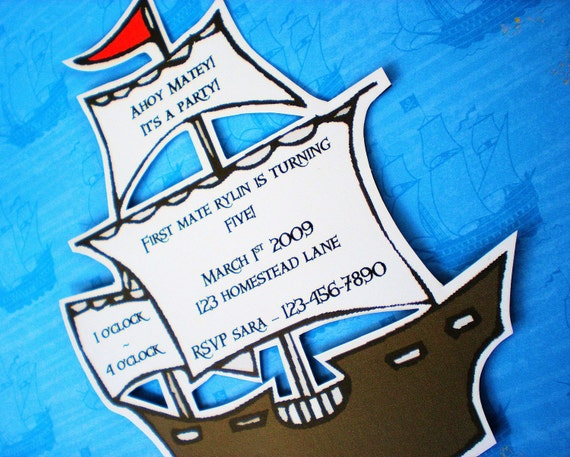 The PIRATE Party - Custom Invitations from Mary Had a Little Party