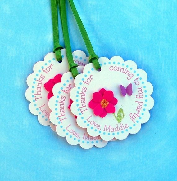 The Butterfly Garden COLLECTION - Fantastic Favor Tags with Bags from Mary Had a Little Party