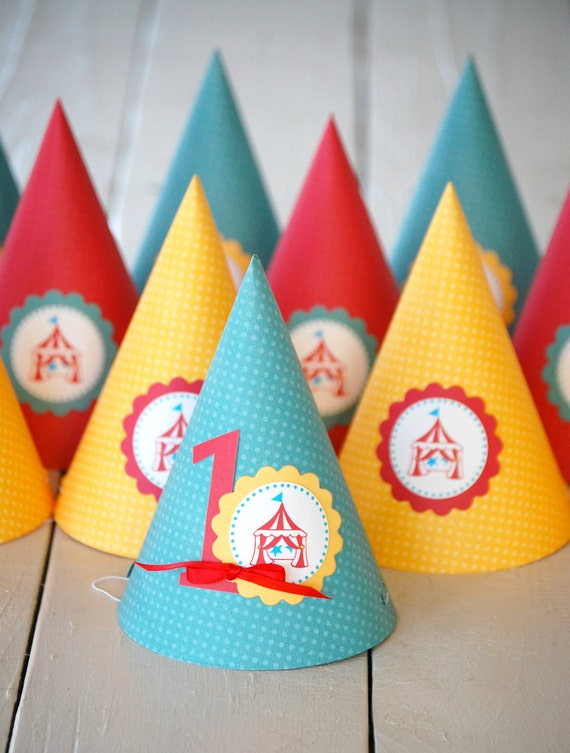 The CIRCUS COLLECTION - Custom Party Hats from Mary Had a Little Party
