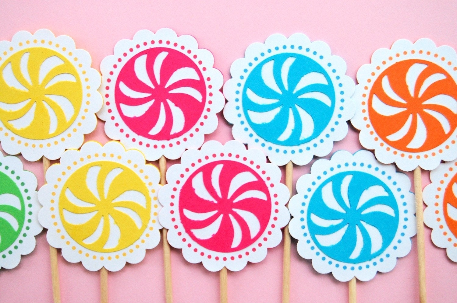 Candy Land Cupcake Toppers Mary Had a Little Party
