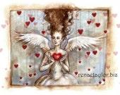 Angel, Greeting Card by Renae Taylor