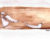 Not Your Angel Anymore, Greeting Card by Renae Taylor