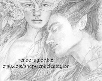 Spring Enchantment Original Drawing by Renae Taylor