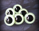GLOW in the Dark Animal Eyes - Your Choice of Size - 12mm 15mm 18mm - 4 pairs Craft Safety Eyes