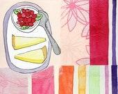 Raspberries and Lemon Pie : Limited Edition Print