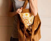 Extra Large Tote - Retro Mustard Material