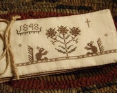 Primitive Cross Stitch Pattern Friendship Book