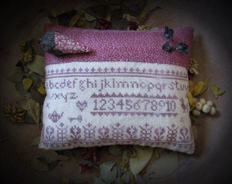 A Spring Pillow Tuck Primitive Cross Stitch Pattern