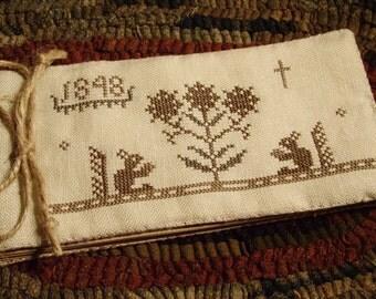 Primitive Cross Stitch Pattern Friendship Book