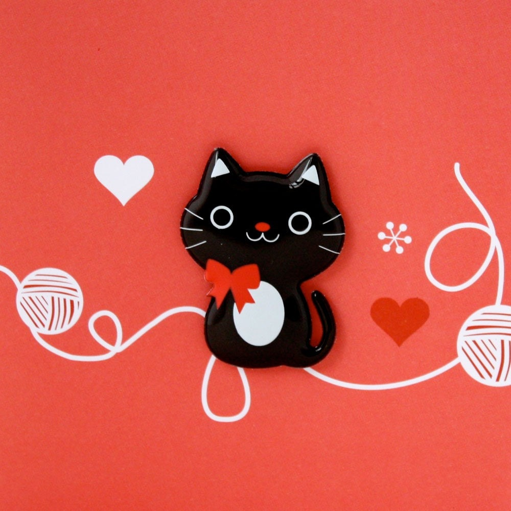 cute cat magnet card by pangoproductionsuk on etsy