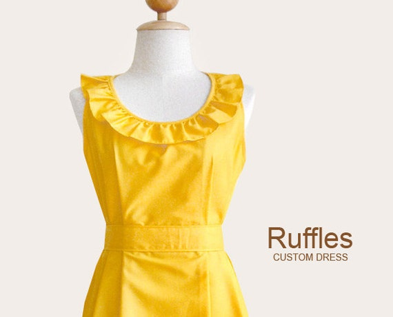 2 flower girl dresses  for doodle15 - Custom ruffled collar dress w/ sash, pockets in GREY