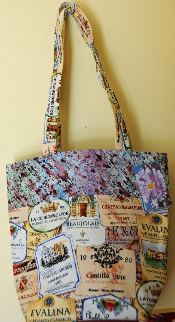 Winery Plaque fabric tote bag