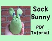 PDF Tutorial - Sock Bunny Filled With Rice