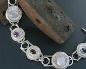Three Stone Sterling SIlver Bracelet