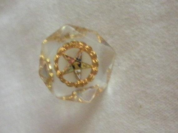 Vintage Order of The Eastern Star Screw Back Earring