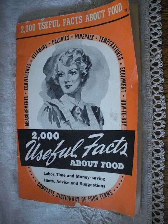 1942 Culinary Arts Institute Food Fact Book Dictionary