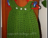 Crocheted Party Dress for baby 6 to 12 months