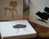 Eames Era Chair Trio art block set lounge-fiber glass shell-lcw side chair