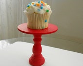 Red mini wooden cupcake stand or cake pop stand so sweet