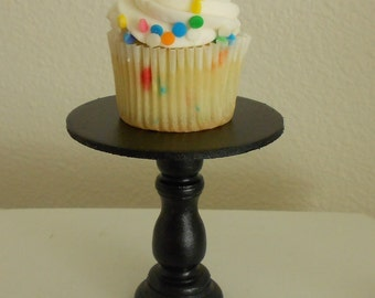 Black  mini wooden cupcake stand or cake pop stand so sweet