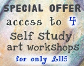 SPECIAL OFFER - Buy Access to 4 Self Study Art Workshops at a Reduced Price