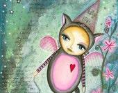 Kitty Mousey Love - Art Print