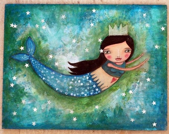 Whimsy Mermaid - Fine Art Print