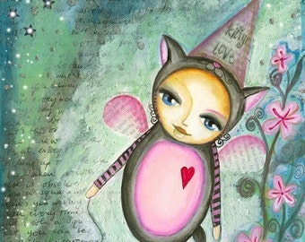 Kitty Mousey Love - Art Print