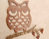 Owl Ornament, Copper and Brass