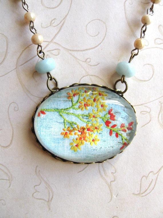 Blue Meadow, Flower Necklace