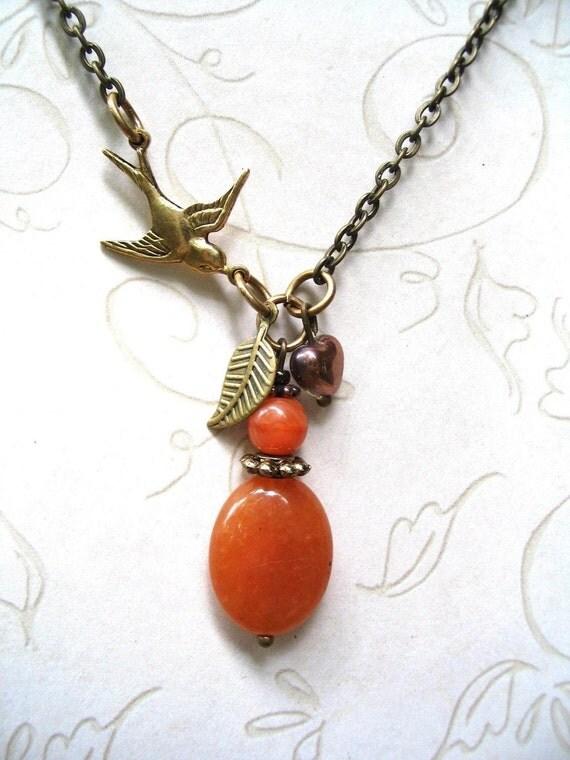Orange Apricot Necklace