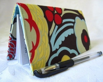 "Designer Fabric Checkbook Covers/Coupon Holders - ""CHOCOLATE MOCHA"""