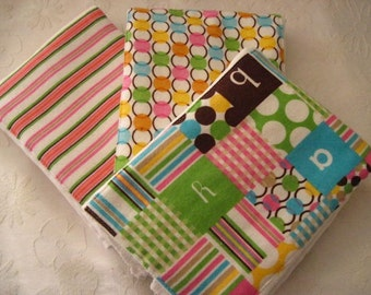 BABY BLOCKS Burp Cloth Set -- Colorful, Absorbent, and So Stylish