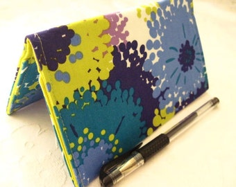"Designer Fabric Checkbook Covers/Coupon Holders - ""POOL SPLASH"""