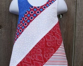 Size 18M --- Red White and Blue Pinafore ((ready to ship PLUS free shipping)))
