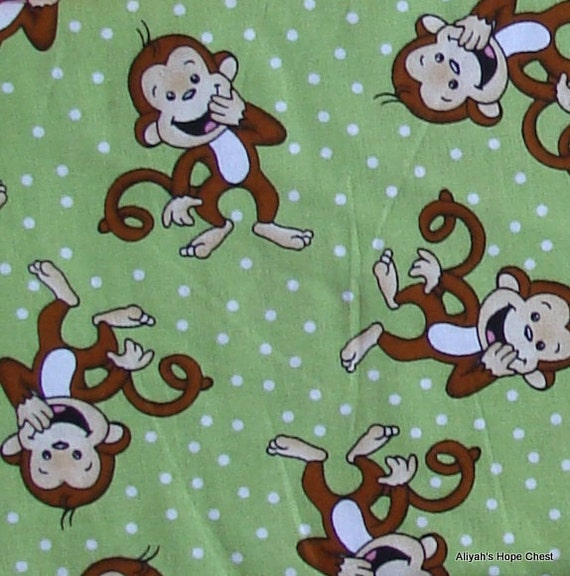 Laughing Monkey Fabric - 25 inch remnant