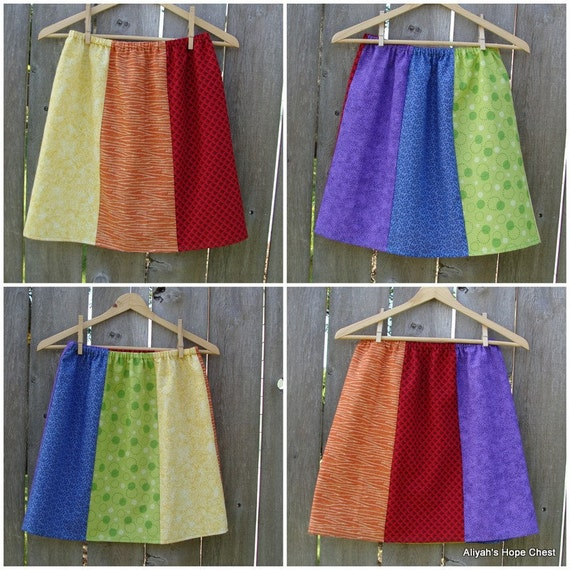 Rainbow Any Which Way Ladies Skirt --- Ready To Ship --- Size S/M