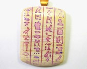 Ancient Egyptian Hieroglyphics Polymer Clay Pendant