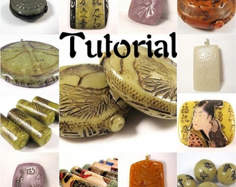 Polymer Clay Tutorial ENGLISH ONLY Digital Pdf Format - Create Realistic Looking Faux Jade 16 Color Recipes 6 Projects 3 Bonus Mini Tuts