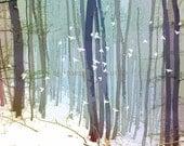 Winter's Arrival, Fine Art Digital Illustration, Nature, Landscapes, Winter Landscape, Woodland, Birds