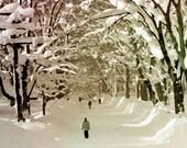 Walking in the Snow   8x8 fine art print