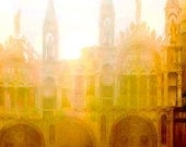 Giclee Archival Print, Photomontage, Collage, Painted Photographs, Sunlit Cathedral