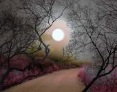 Photographs, Home Decor, Wall Art....The Silvery Moon ...5x7 archival Fine Art Giclee print