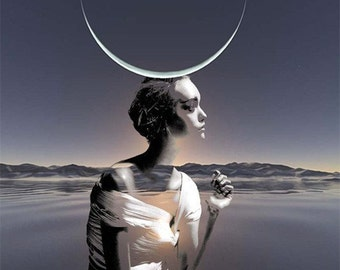 Buy One Get One Free - See Shop Announcement - Moon Child...(Reproduction Art Print)