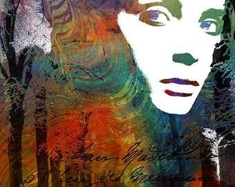 Print,  Collage, Photomontage, Photograph, Painted Photograph, Paris, Woman Portrait