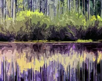 A Monet's Rapsodie  Modern Abstract Landscape 8x8